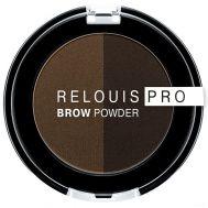 """Тени для бровей """"Brow Powder"""" тон: 03, dark brown"""