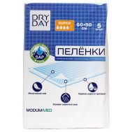"Пелёнки одноразовые ""DryDay. Super"" (5 шт.; 600 х 900 мм) (10712013)"